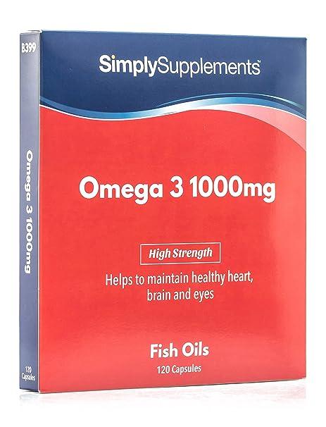 Omega 3 1000mg - 120 cápsulas - Hasta 4 meses de suministro - Para el corazón