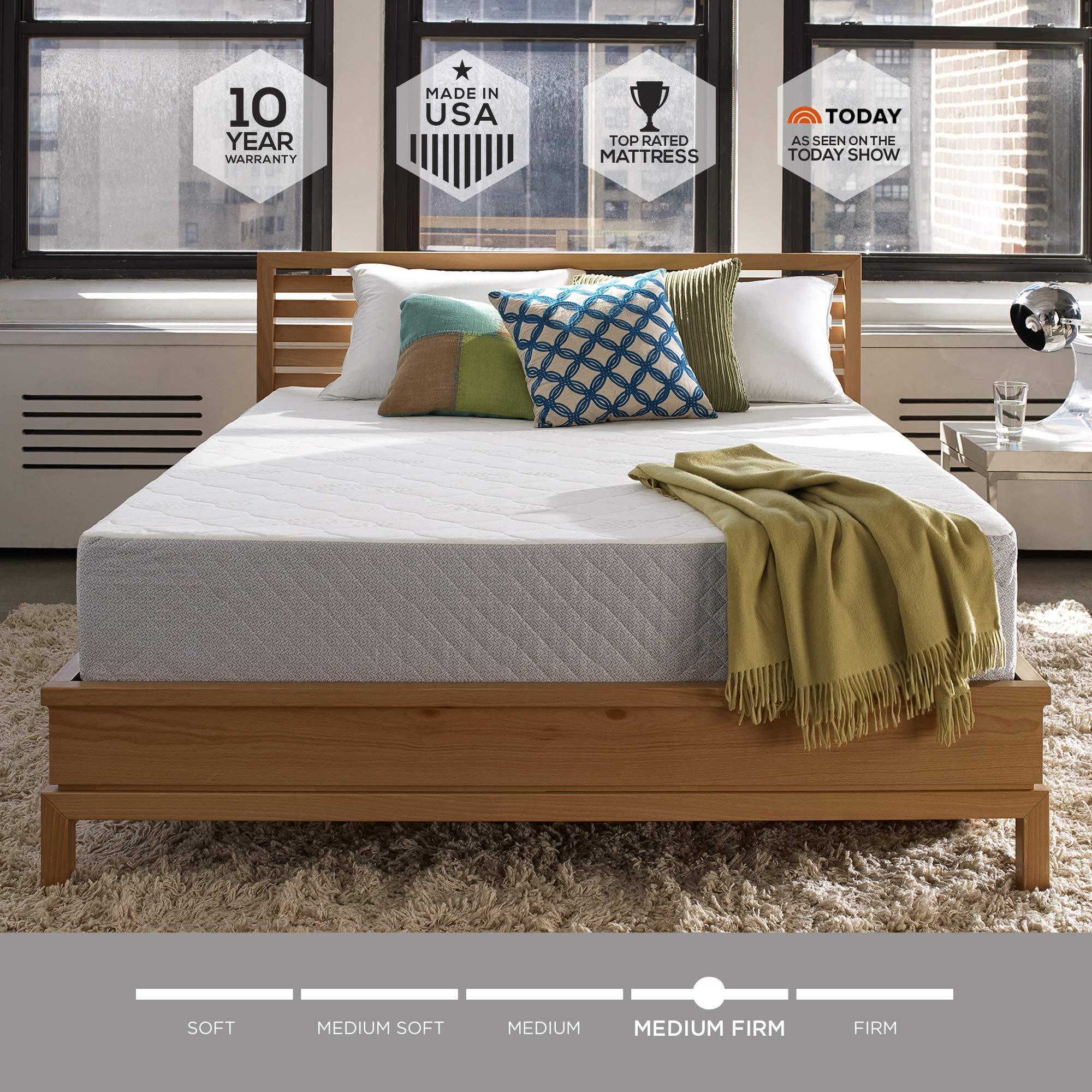 Sleep Innovations Mattress, Queen, White by Sleep Innovations