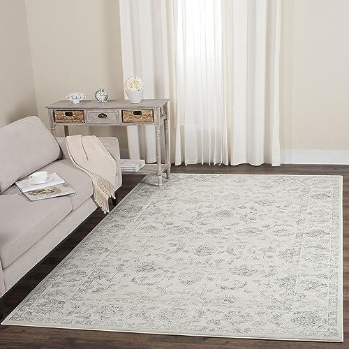 Safavieh Carnegie Collection CNG621D Vintage Distressed Non-Shedding Stain Resistant Living Room Bedroom Area Rug