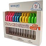 Westcott School 左右手儿童剪刀 尖头 12份 多种颜色