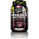 MuscleTech Phase8 Protein Powder, Sustained Release 8-Hour Protein Shake, Vanilla, 2.5 Pounds (1.13kg) *Bonus Size*