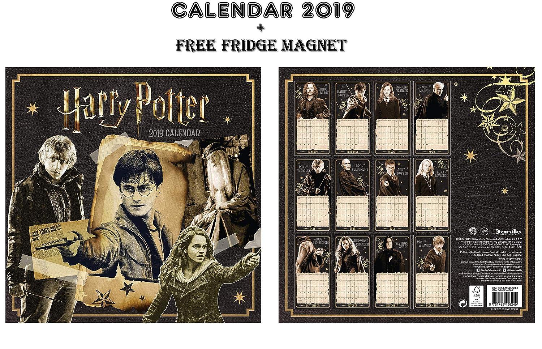 Harry Potter Official CALENDARIO 2019 + Harry Potter FRIGORIFERO CALENDARSFORLOVE