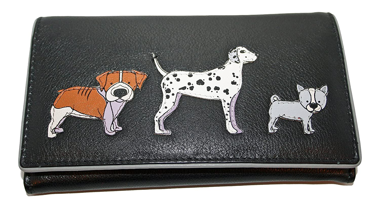 Mala Leather Medium Flapover Purse Style Best Friends 331265 Cat Pattern New