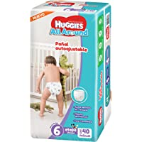 Huggies Pañales All Around, Unisex, Etapa 6, 40 Piezas