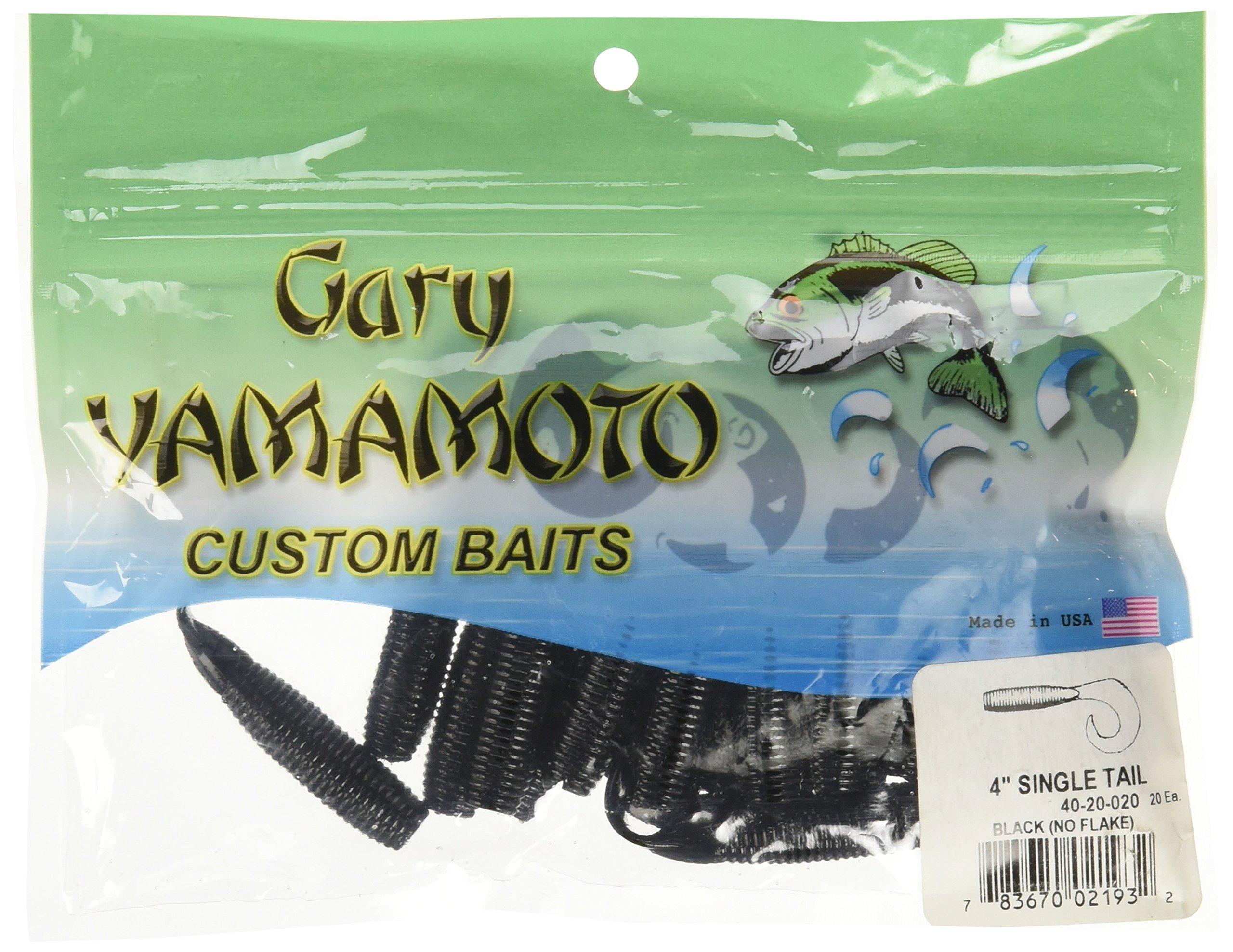 Yamamoto Single Tail Grub 4'', Black