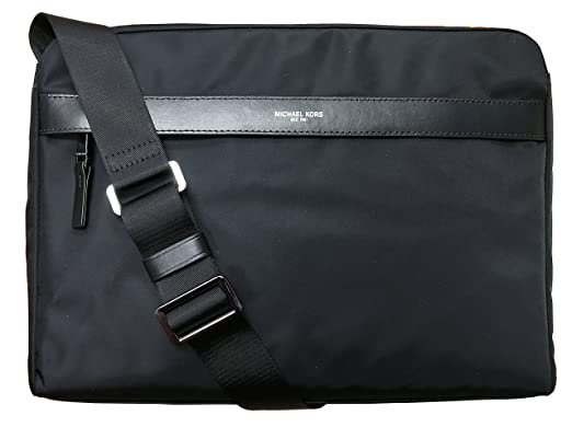 fa0a9c050ed5b5 Amazon.com | Michael Kors Mens Kent Large Messenger Bag Black ...
