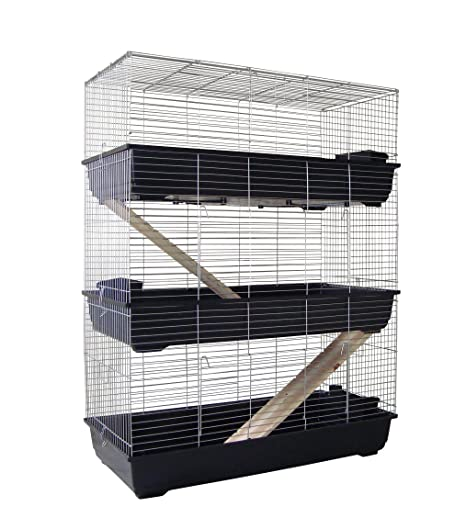 3 pisos jaula adolescente 120 cm para conejos o meeris: Amazon.es ...