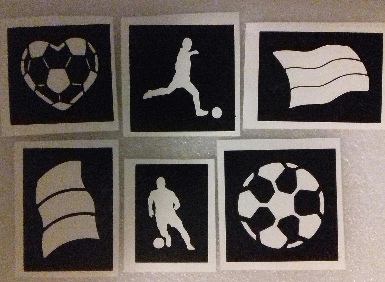 30 x Fußball Schablonen für Glitzer Tattoo / Gesicht malen ...