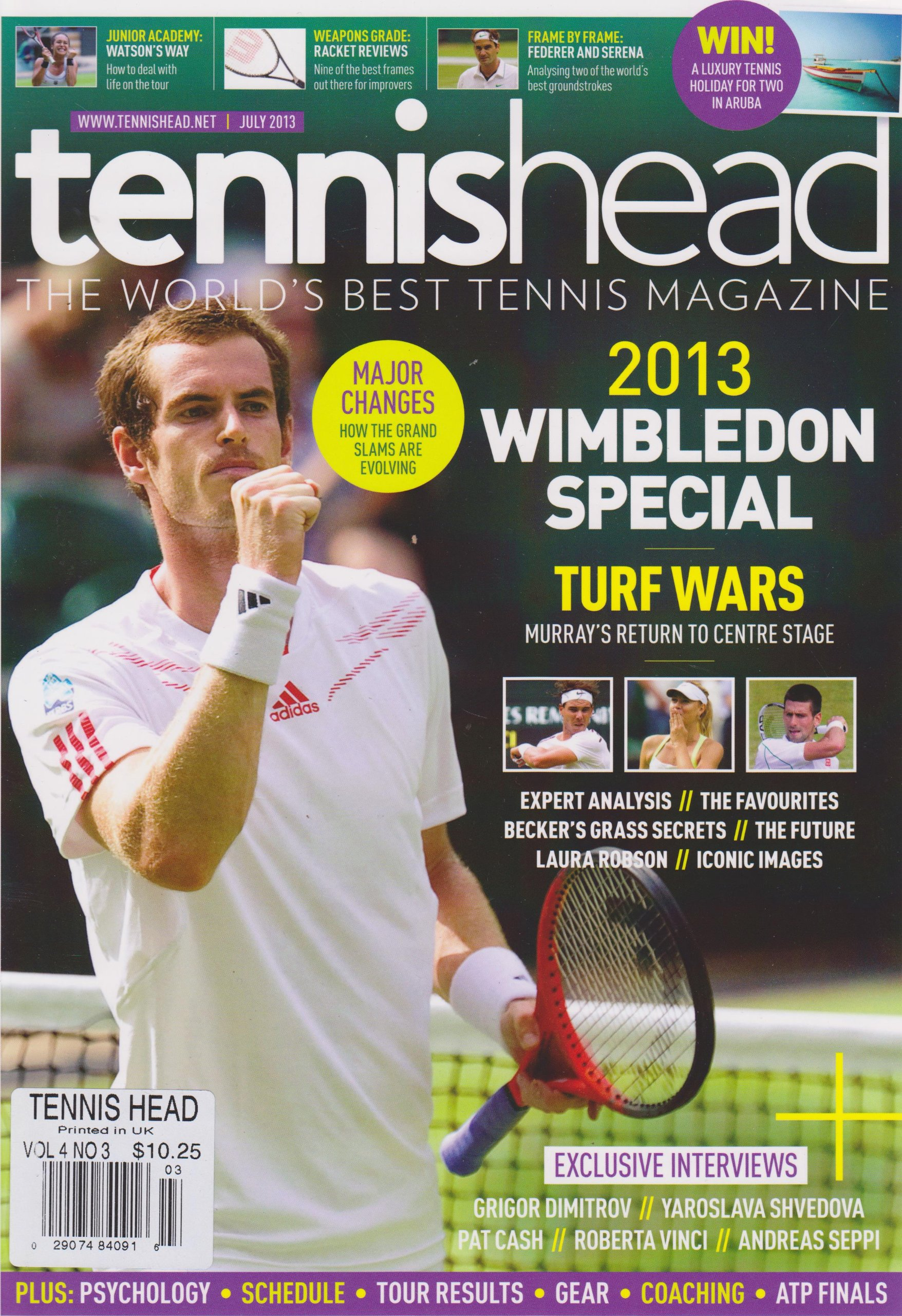 Tennis Head Magazine July 2013 Single Issue Magazine – 2013