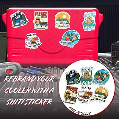 Built For The Broke SHITI Coolers – Assorted Stickers 6-Pack : Garden & Outdoor [5Bkhe1104893]