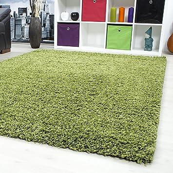 Teppiche Hochflor Shaggy Für Wohnzimmer, Esszimmer. Gästezimmer Mit 50 Mm  Florhöhe. Einfarbig Shaggy