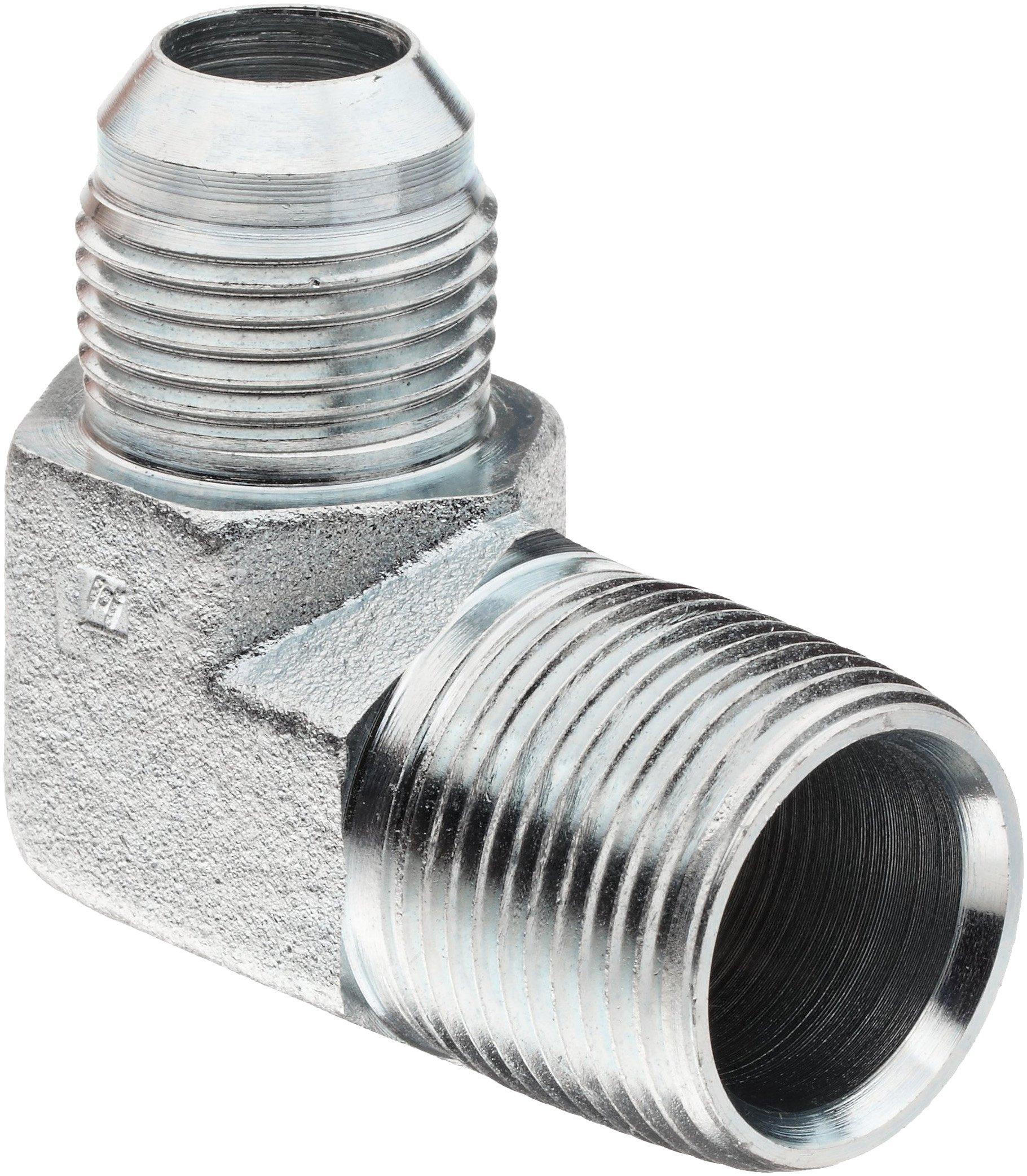 Brennan 2501-24-24-FG Forged Steel JIC Flared Tube Fitting, 90 Degree Elbow Forgeded, 1-1/2'' Tube OD JIC Male x 1-1/2-11-1/2 NPTF Male