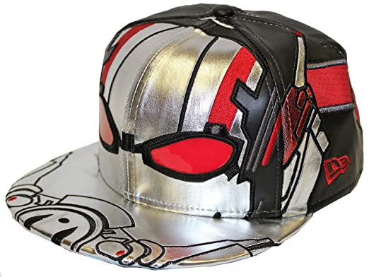 New Era 59fifty Character Armor Ant-Man Silver Red Black Fitted (7 1 ... c453bf31e10