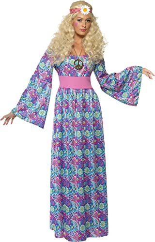 60s Costumes: Hippie, Go Go Dancer, Flower Child, Mod Style Smiffys Womens Flower Child  Maxi Dress Costume $55.28 AT vintagedancer.com