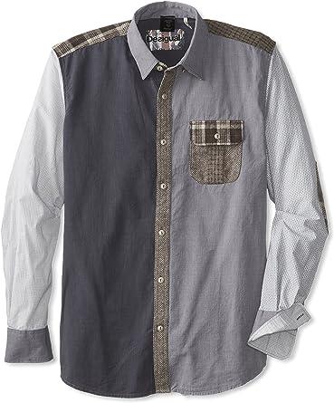 Desigual Hiroshi, Camisa para Hombre, Gris 2020 S: Amazon.es ...