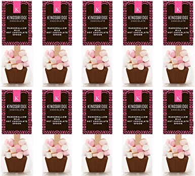 10 Pack Of Marshmallow Milk Hot Chocolate Spoons