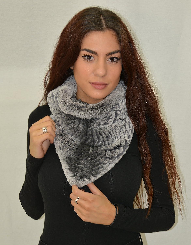 Rex Rabbit Fur Knit Scarf