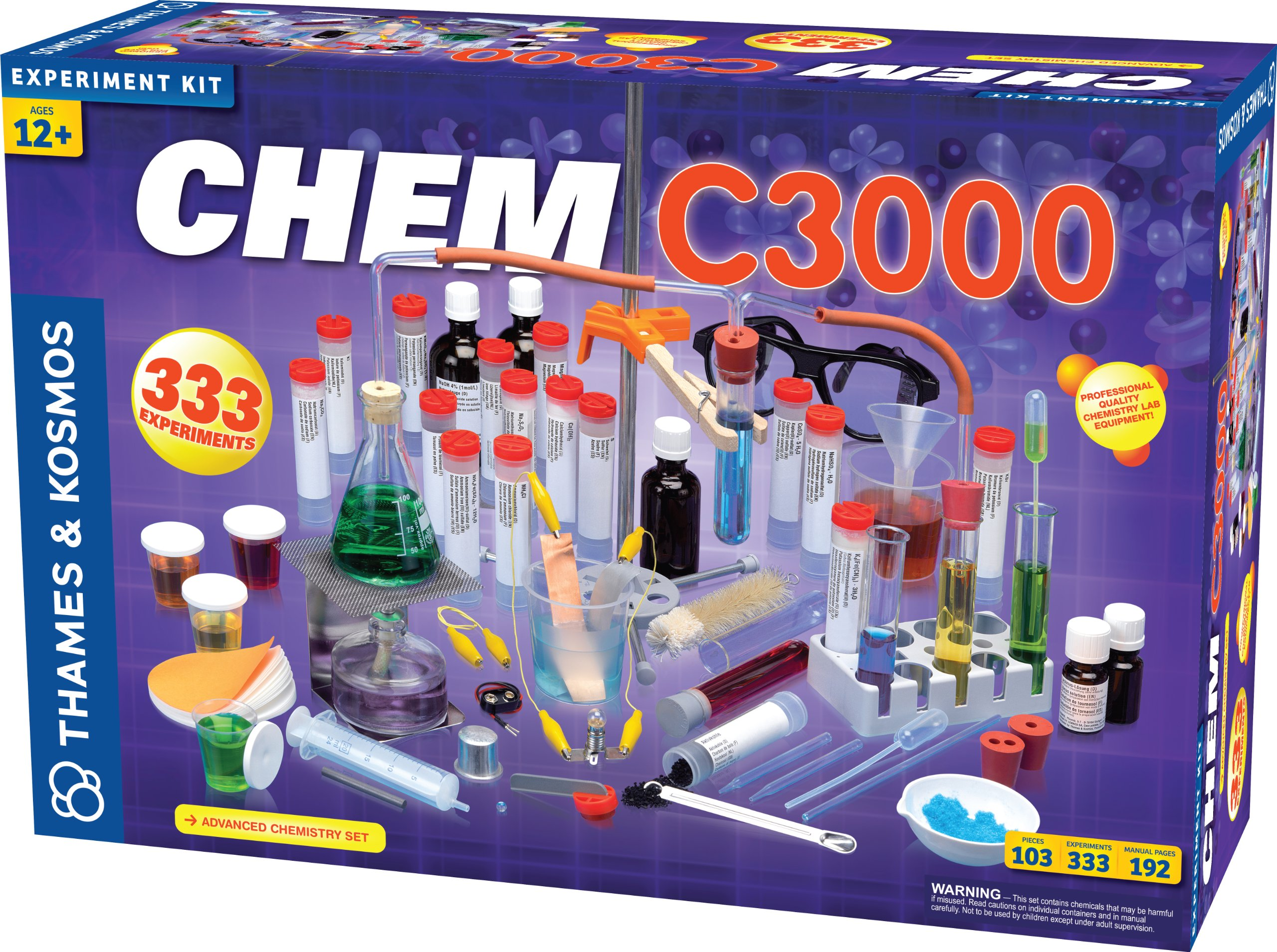 Thames & Kosmos Chem C3000 (V 2.0) Chemistry Set with 333 Experiments & 192 Page Lab Manual, Student Laboratory Quality Instruments & Chemicals