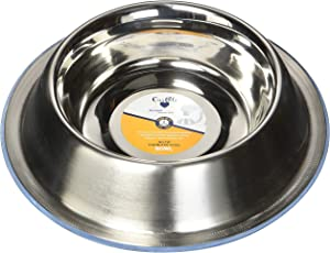OurPets DuraPet Premium Dishwasher Safe Stainless Steel Dog Bowl for Food or Water [Multiple Sizes for Small to Large Dogs] in Traditional or Wide Base Design - 2 CUPS