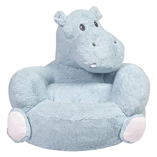 Children s Plush Hippo Character Chair