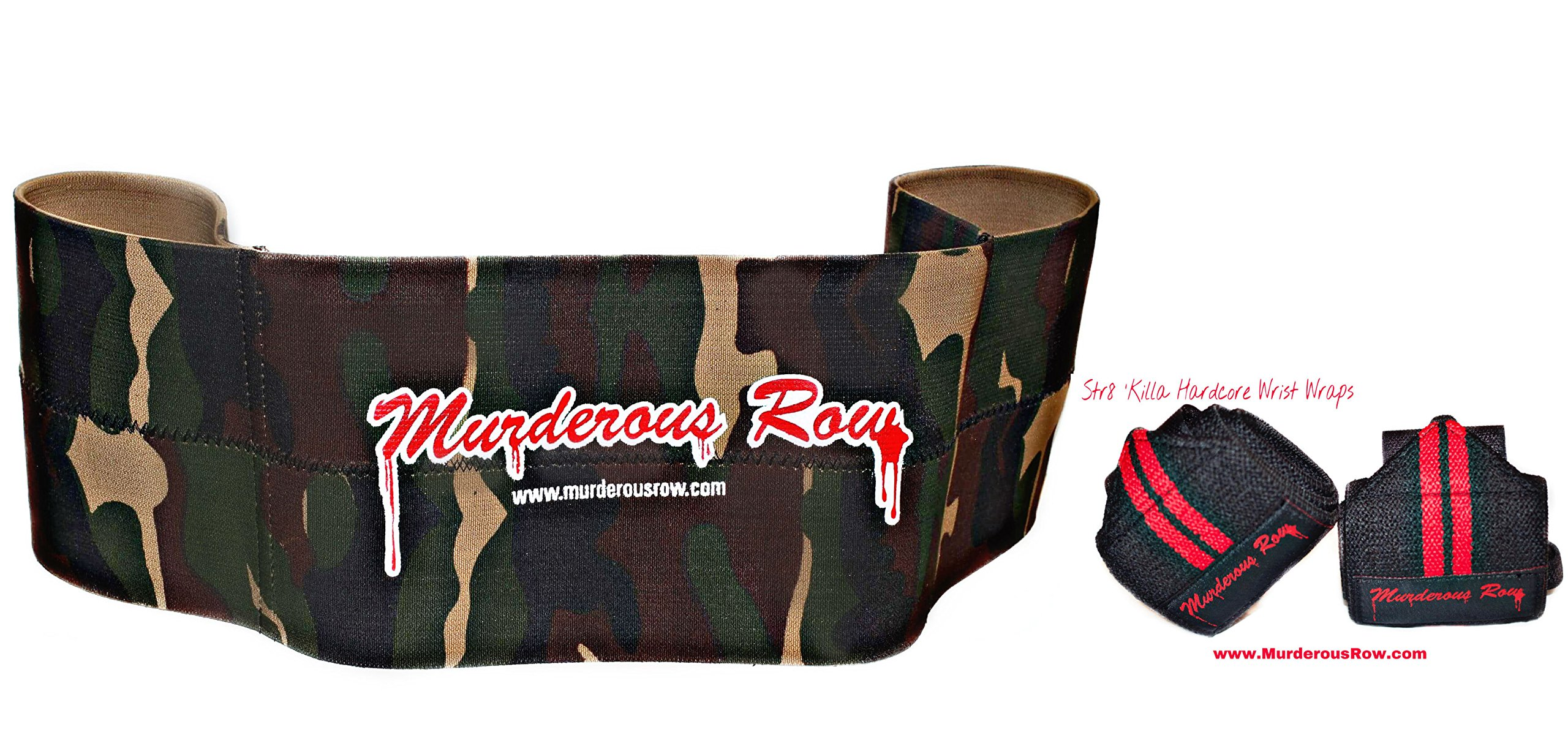 www.MurderousRow.com MURDEROUS ROW Bench Press Sling Shot (2XL, 221-300lbs) DESERT STORM CAMO LIMITED EDITION + STR8 'KILLA Hardcore Wrist Wraps