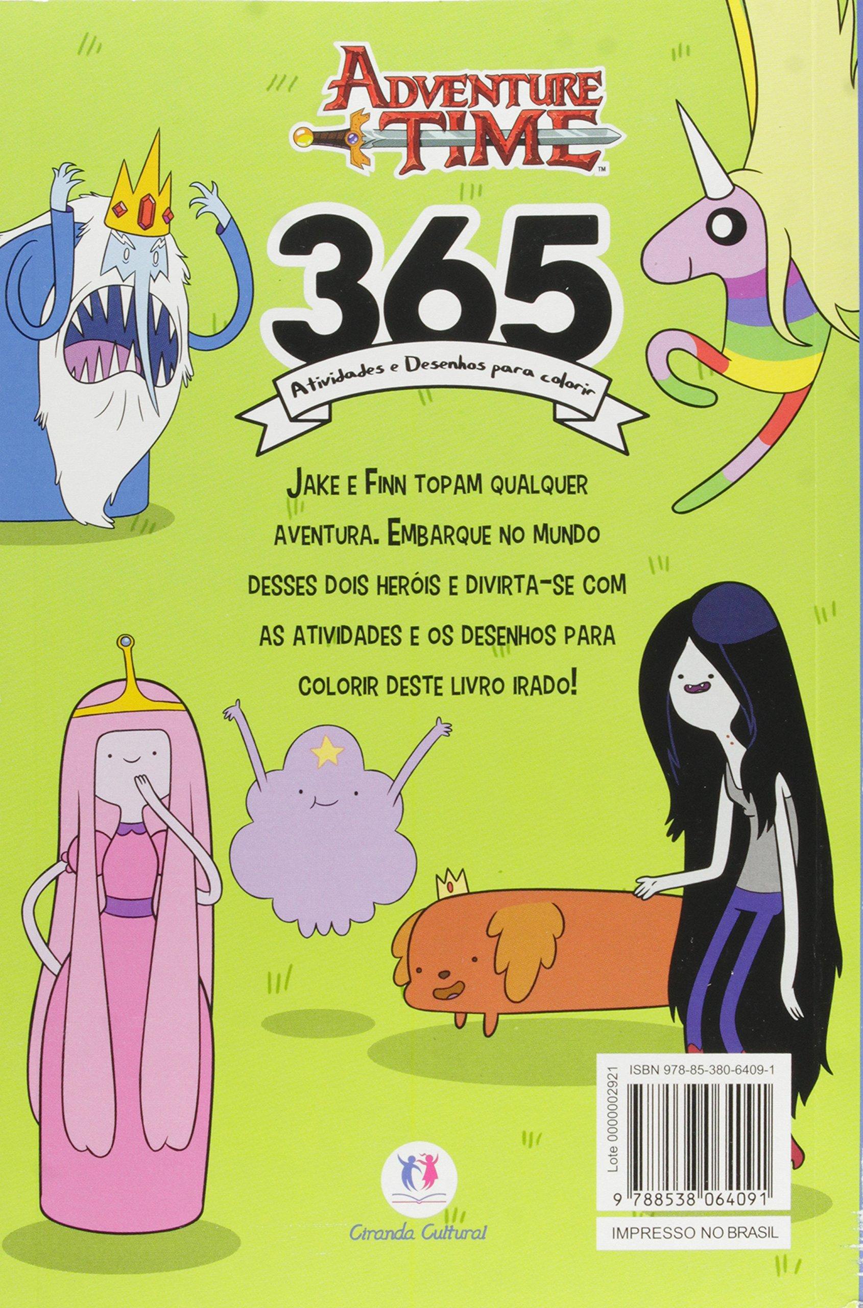 Hora De Aventura 365 Atividades E Desenhos Para Colorir Ciranda
