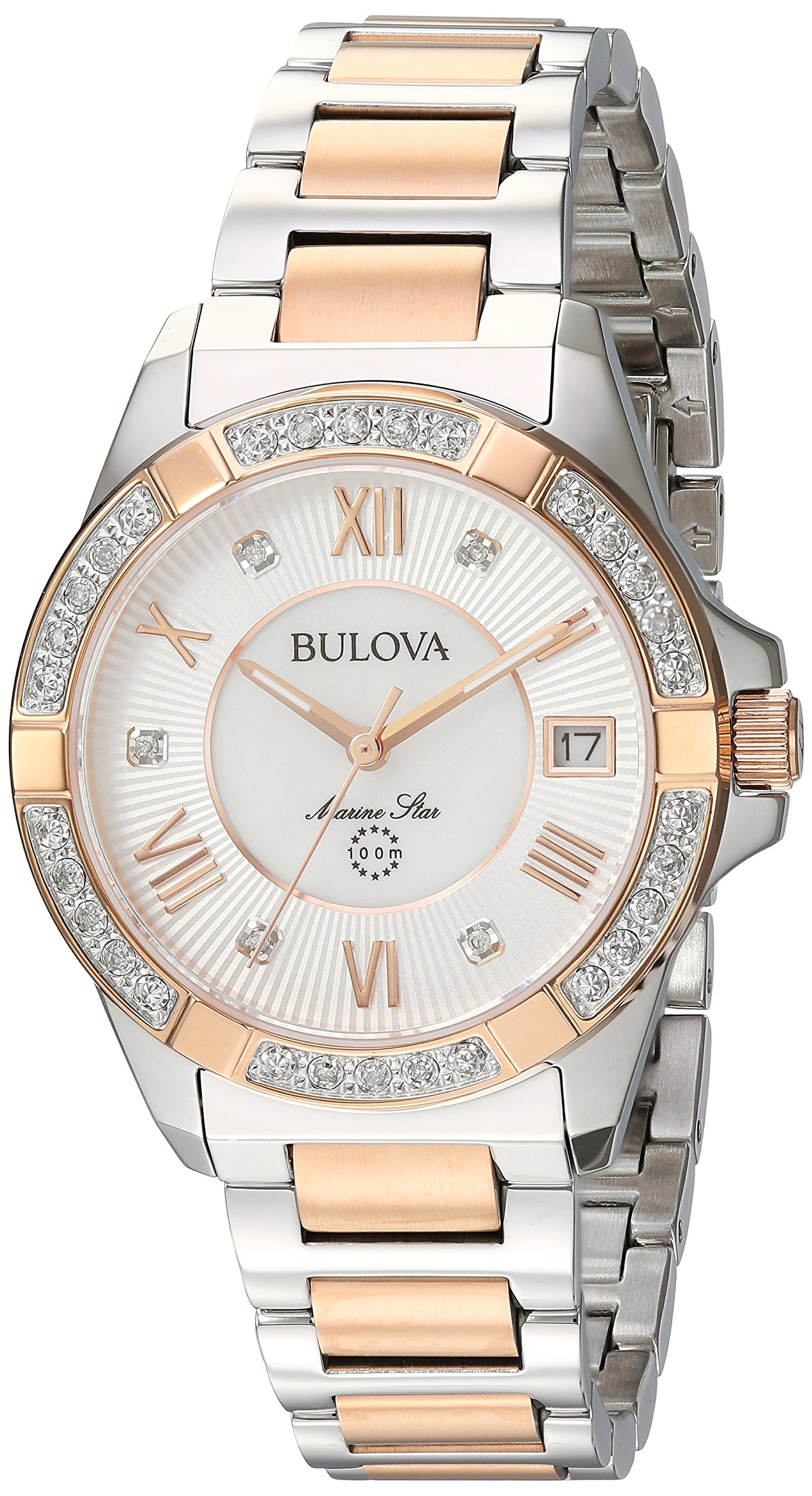 Bulova Women's Quartz Stainless Steel Casual Watch, Color:Two Tone (Model: 98R234)