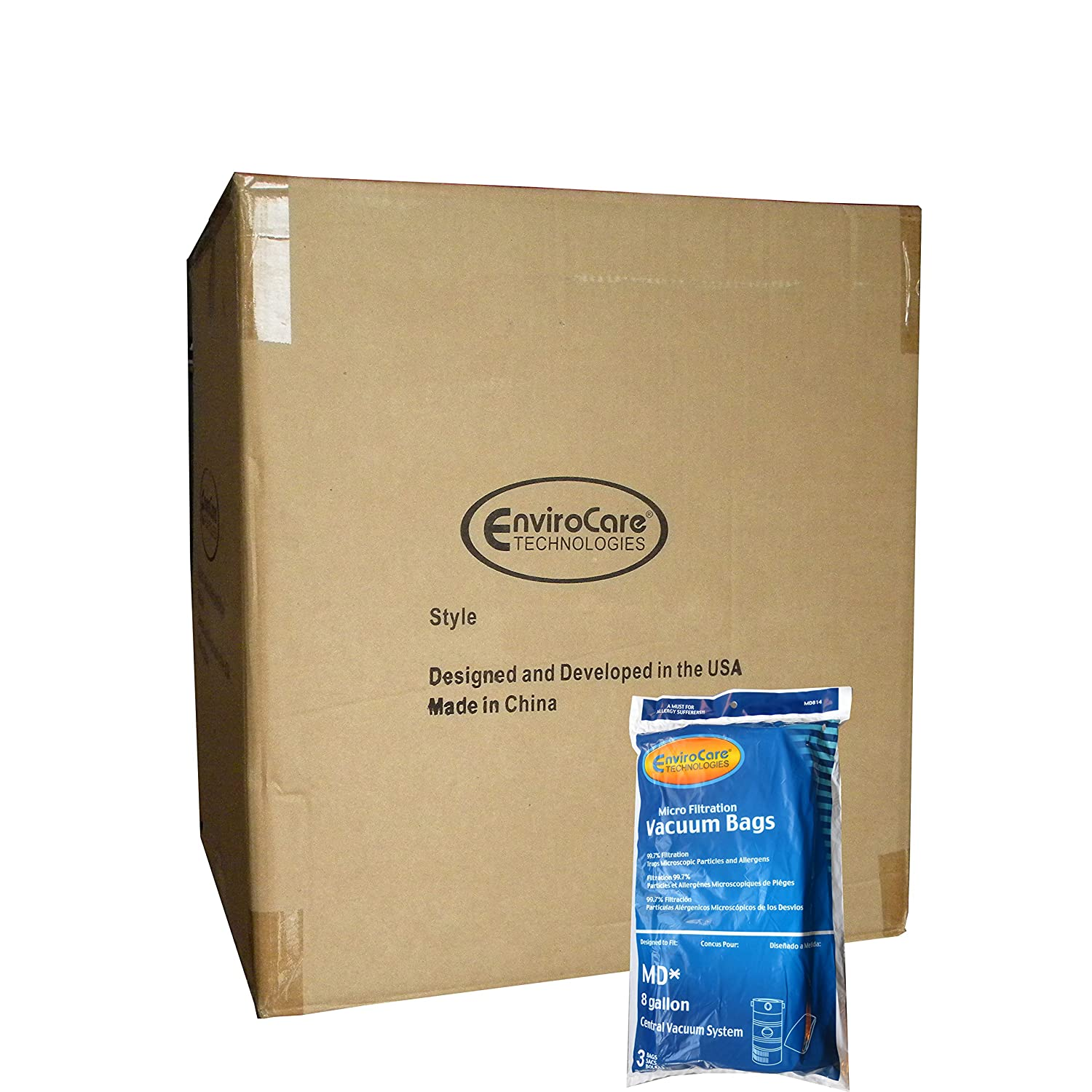 Amazon.com - Half Case of Modern Day MD 8 Gallon Microfiltration Central Vacuum Cleaner Bags -