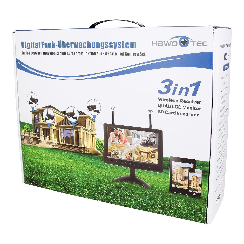 HaWoTEC HD IP Echtzeit Funk-Überwachungssystem: Amazon.de: Elektronik