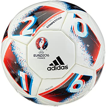 adidas Euro16 Comp Balón de fútbol, Hombre, (Blanco/Azubri/Rojsol ...