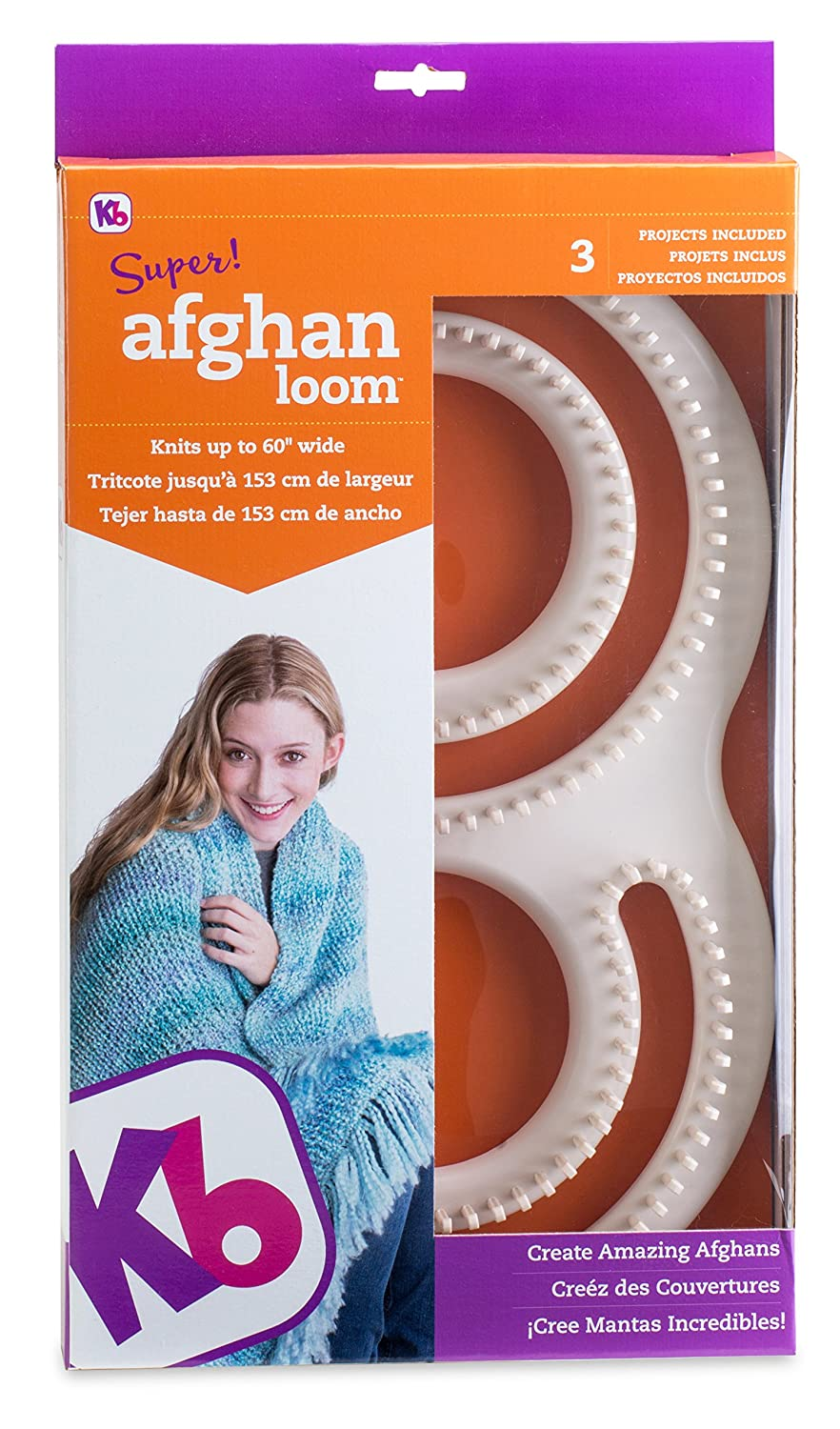 amazon com authentic knitting board afghan loom arts crafts