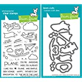 Lawn Fawn Plane and Simple Stamp and Die Bundle (LF1409) and (LF1410)