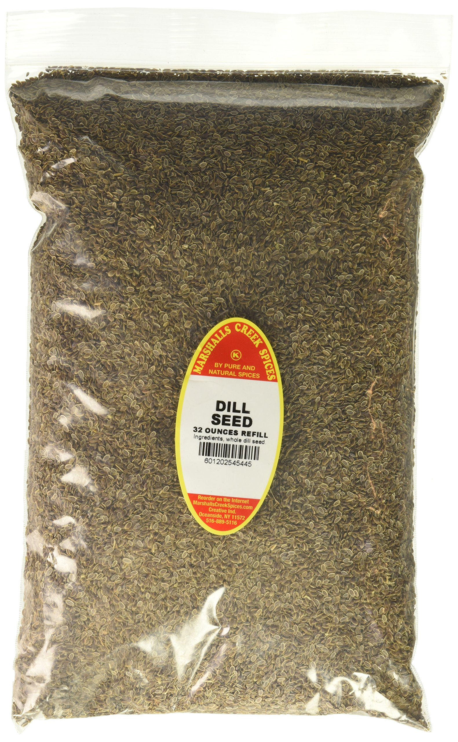 Marshalls Creek Spices Family Size Kosher Dill Seed Seasoning Refill, 32 Ounce