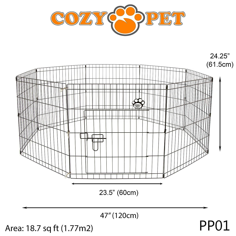 Parque para perros, de Cozy Pet, también para conejos y cobayas, modelo PP01: Amazon.es: Productos para mascotas