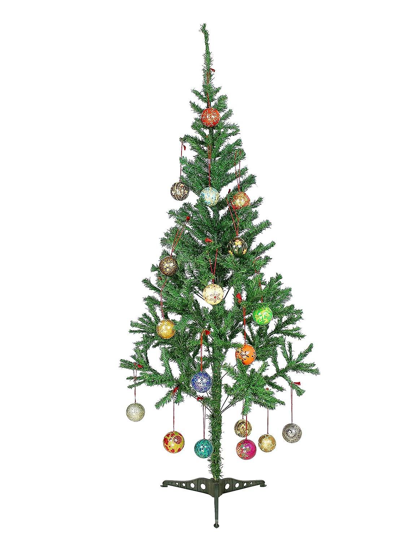 Amazon.com: Christmas Tree Hanging Ornaments Handmade Paper Mache ...