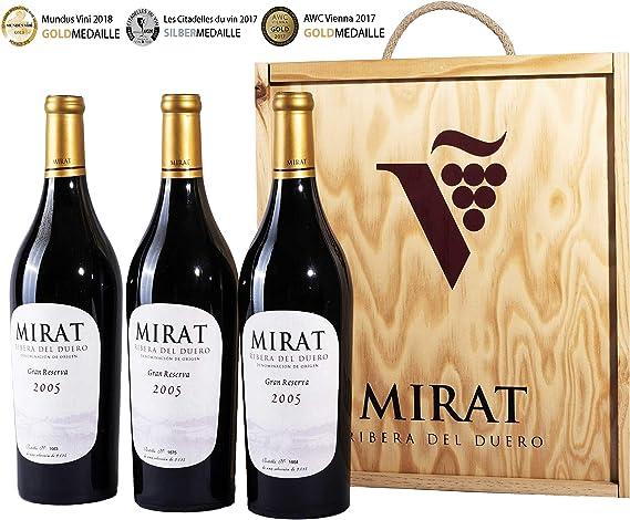 Vino Ribera del Duero Gran Reserva 2005 Tempranillo para Regalo - Vino Tinto Premiado de 14 Años