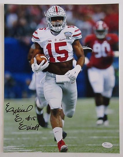 new arrival ee87d 1b361 Amazon.com: Ezekiel Elliott Autographed Ohio State Buckeyes ...