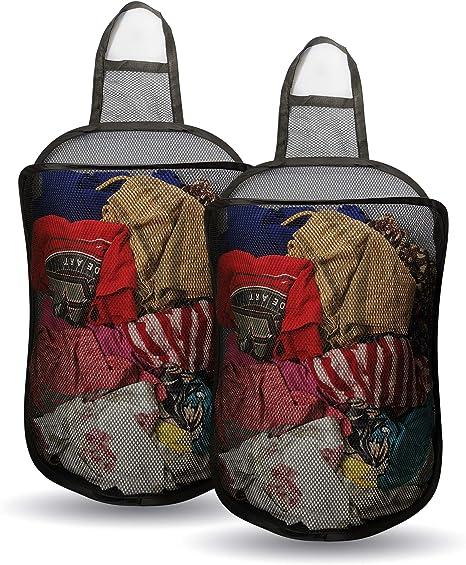 BUY 2 GET 1 FREE Pop Up Foldable Laundry Basket Mesh Hamper Washing Clothes Bag
