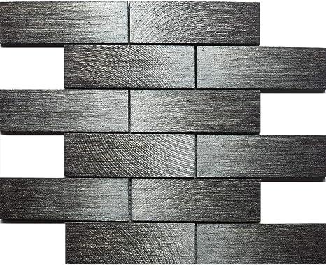 Amazon.com: Koozzo Rectangular Lava Stone Mosaic Tile, 11.8'' X 11.8'', For  Kitchen Backsplash, Shower Wall, Bathroom Tile, Matt Grey: Home & Kitchen