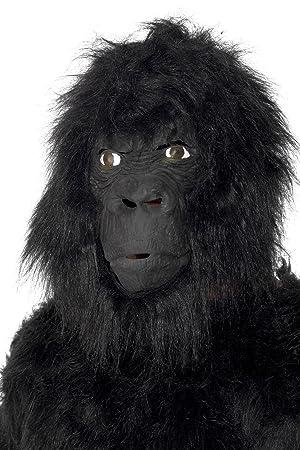 Smiffys Máscara de gorila, negro, grande por encima de la cabeza, con pelo