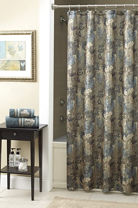 Chapel Hill By Croscill Hastings Shower Curtain, 70 By 72 Inch, Mineral