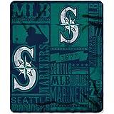 "MLB Seattle Mariners Strength Printed Fleece Throw, Green, 50"" x 60"""