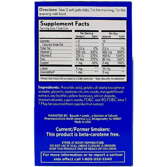 PreserVision Areds 2 Vitamina & Mineral Suplemento 120 Suave Gel Tamaño 120: Amazon.es: Salud y cuidado personal