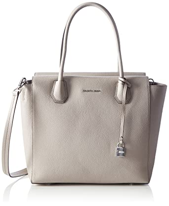 62f4bd8b9e8fe Amazon.com: MICHAEL Michael Kors Mercer Large Satchel Cement Satchel  Handbags, Gray, Medium: Clothing