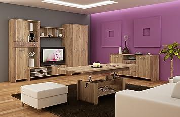 Wohnzimmer Mobel Satz Tv Wohnwand Hugo Ii Tv Bank Freistehend