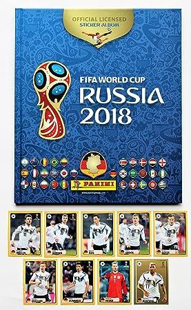 Panini WM 2018 Rusia – Álbum de Lee Hard Cover + Set Todos los 9 Pegatinas M1 – M9 mcdo nalds: Amazon.es: Juguetes y juegos