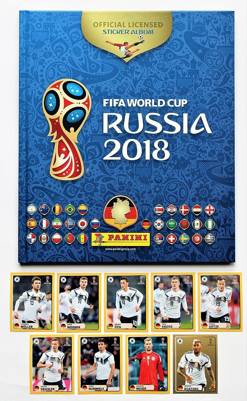 Album vuoto con set di 9 adesivi M1 Panini WM 2018 Russia M9 McDonalds