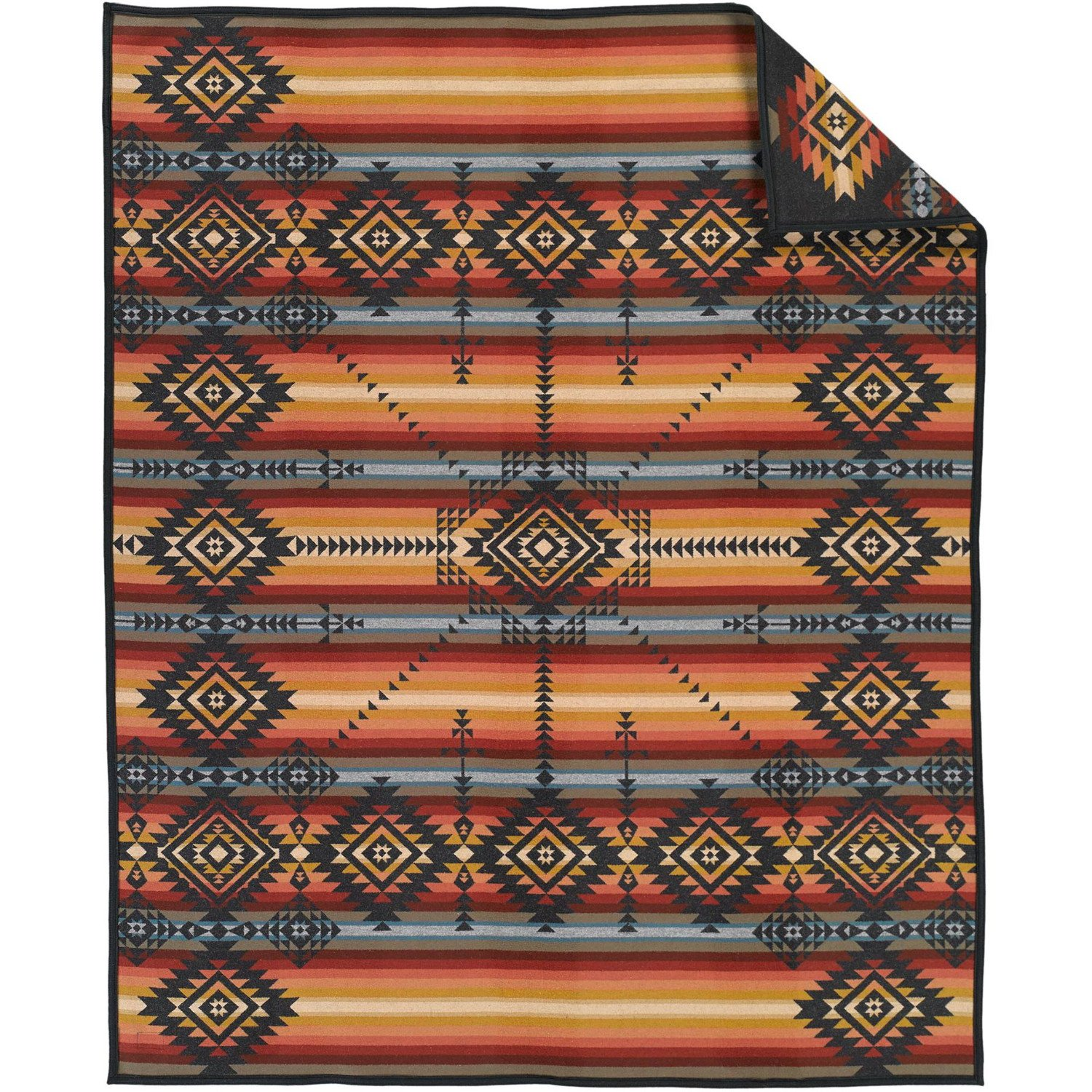 Pendleton Heritage Collection Robe Blanket One Size Dark Charcoal by Pendleton (Image #2)