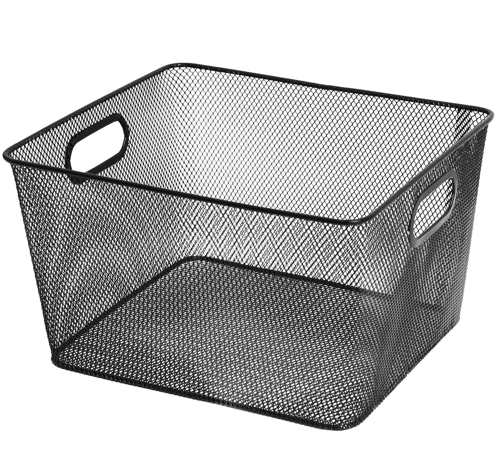 Mesh Open Bin Storage Basket Organizer for Fruits, Vegetables, Pantry Items Toys 2041 (1, 10 X 8.8 X 5.8)