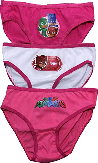 Amazon.com: PJ Masks Childrens Girls Owelette Three Pack Underwear Briefs Set Pink-White-Pink 2-3 Years New 2017-2018: Clothing